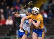 11 March 2018; Patrick Curran of Waterford and Conor Cleary of Clare tangle as they await the dropping ball during the Allianz Hurling League Division 1A Round 5 match between Waterford and Clare at Walsh Park in Waterford. Photo by Piaras Ó Mídheach/Sportsfile
