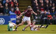11 March 2018; Aidan Harte of Galway in action against Aaron Gillane of Limerick during the Allianz Hurling League Division 1B Round 5 match between Galway and Limerick at Pearse Stadium in Galway. Photo by Diarmuid Greene/Sportsfile