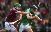 11 March 2018; Barry Murphy of Limerick in action against Adrian Touhy of Galway during the Allianz Hurling League Division 1B Round 5 match between Galway and Limerick at Pearse Stadium in Galway. Photo by Diarmuid Greene/Sportsfile