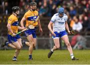 11 March 2018; Austin Gleeson of Waterford in action against Tony Kelly, left, and Cathal Malone of Clare during the Allianz Hurling League Division 1A Round 5 match between Waterford and Clare at Walsh Park in Waterford. Photo by Piaras Ó Mídheach/Sportsfile