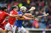 11 March 2018; Patrick Maher of Tipperary in action against Mark Coleman, centre, and Christopher Joyce of Cork during the Allianz Hurling League Division 1A Round 5 match between Tipperary and Cork at Semple Stadium in Thurles, Co Tipperary. Photo by Sam Barnes/Sportsfile