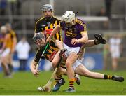 11 March 2018; Cathal Dunbar of Wexford in action against Enda Morrissey of Kilkenny during the Allianz Hurling League Division 1A Round 5 match between Kilkenny and Wexford at Nowlan Park in Kilkenny. Photo by Brendan Moran/Sportsfile
