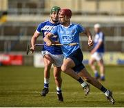 11 March 2018; Danny Sutcliffe of Dublin in action against James Ryan of Laois during the Allianz Hurling League Division 1B Round 5 match between Laois and Dublin at O'Moore Park in Portlaoise, Co Laois. Photo by Philip Fitzpatrick/Sportsfile