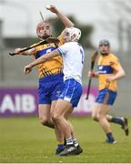 11 March 2018; Peter Duggan of Clare in action against Shane Fives of Waterford during the Allianz Hurling League Division 1A Round 5 match between Waterford and Clare at Walsh Park in Waterford. Photo by Piaras Ó Mídheach/Sportsfile
