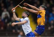11 March 2018; Conor Gleeson of Waterford in action against David Reidy of Clare during the Allianz Hurling League Division 1A Round 5 match between Waterford and Clare at Walsh Park in Waterford. Photo by Piaras Ó Mídheach/Sportsfile