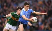 11 March 2018: Colm Basquel of Dublin in action against Brian Ó Beaglaoich of Kerry during the Allianz Football League Division 1 Round 5 match between Dublin and Kerry at Croke Park in Dublin. Photo by Stephen McCarthy/Sportsfile