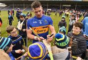 11 March 2018; Padraic Maher of Tipperary signs autographs for supporters following the Allianz Hurling League Division 1A Round 5 match between Tipperary and Cork at Semple Stadium in Thurles, Co Tipperary. Photo by Sam Barnes/Sportsfile