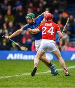 11 March 2018; Cathal Barrett of Tipperary in action against Daniel Kearney of Cork during the Allianz Hurling League Division 1A Round 5 match between Tipperary and Cork at Semple Stadium in Thurles, Co Tipperary. Photo by Sam Barnes/Sportsfile