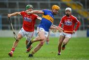 11 March 2018; Padraic Maher of Tipperary in action against Alan Cadogan, left, and Luke Meade of Cork during the Allianz Hurling League Division 1A Round 5 match between Tipperary and Cork at Semple Stadium in Thurles, Co Tipperary. Photo by Sam Barnes/Sportsfile