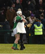11 March 2018; Cian Lynch of Limerick celebrates with his mother Valerie at the final whistle after the Allianz Hurling League Division 1B Round 5 match between Galway and Limerick at Pearse Stadium in Galway. Photo by Diarmuid Greene/Sportsfile
