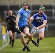 11 March 2018: Cian O'Sullivan of Dublin in action against Ross King of Laois during the Allianz Hurling League Division 1B Round 5 match between Laois and Dublin at O'Moore Park in Portlaoise, Co Laois. Photo by Philip Fitzpatrick/Sportsfile