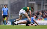 11 March 2018; Eric Lowndes of Dublin tussles with Kevin McCarthy of Kerry during the Allianz Football League Division 1 Round 5 match between Dublin and Kerry at Croke Park in Dublin. Photo by David Fitzgerald/Sportsfile