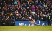 11 March 2018; Joe Canning of Galway takes a sideline ball during the Allianz Hurling League Division 1B Round 5 match between Galway and Limerick at Pearse Stadium in Galway. Photo by Diarmuid Greene/Sportsfile