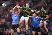 11 March 2018; Ciaran Kilkenny, left, and Paddy Andrews of Dublin in action against Peter Crowley and Ronan Shanahan, right, of Kerry during the Allianz Football League Division 1 Round 5 match between Dublin and Kerry at Croke Park in Dublin. Photo by Stephen McCarthy/Sportsfile