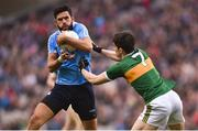 11 March 2018; Cian O'Sullivan of Dublin in action against Brian Ó Beaglaoich of Kerry during the Allianz Football League Division 1 Round 5 match between Dublin and Kerry at Croke Park in Dublin. Photo by David Fitzgerald/Sportsfile