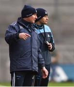 11 March 2018; Dublin manager Jim Gavin, left, and fowards coach Jason Sherlock during the Allianz Football League Division 1 Round 5 match between Dublin and Kerry at Croke Park in Dublin. Photo by David Fitzgerald/Sportsfile