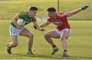 11 March 2018; Donal Lenihan of Meath in action against Kevin Flahive of Cork during the Allianz Football League Division 2 Round 5 match between Meath and Cork at Páirc Tailteann in Navan, Co Meath. Photo by Oliver McVeigh/Sportsfile