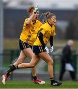 11 March 2018; Aishling Moloney of DCU celebrates after scoring a late point which ultimately won the game for her side during the Gourmet Food Parlour HEC O'Connor Cup Final match between UL and DCU at the GAA National Games Development Centre in Abbotstown, Dublin. Photo by Eóin Noonan/Sportsfile