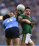 11 March 2018; Micheál Burns of Kerry in action against Eric Lowndes of Dublin during the Allianz Football League Division 1 Round 5 match between Dublin and Kerry at Croke Park in Dublin. Photo by David Fitzgerald/Sportsfile