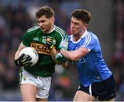 11 March 2018; Éanna Ó Conchúir of Kerry in action against Andrew McGowan of Dublin during the Allianz Football League Division 1 Round 5 match between Dublin and Kerry at Croke Park in Dublin. Photo by Stephen McCarthy/Sportsfile