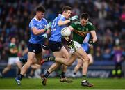 11 March 2018; Jack Barry of Kerry in action against Andrew McGowan, left, and Emmet Ó Conghaile of Dublin during the Allianz Football League Division 1 Round 5 match between Dublin and Kerry at Croke Park in Dublin. Photo by Stephen McCarthy/Sportsfile