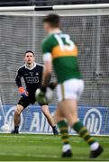 11 March 2018; Dublin goalkeeper Stephen Cluxton faces a free kick from David Clifford of Kerry during the Allianz Football League Division 1 Round 5 match between Dublin and Kerry at Croke Park in Dublin. Photo by Stephen McCarthy/Sportsfile