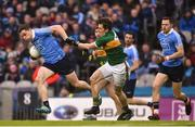 11 March 2018; Paddy Andrews of Dublin in action against Ronan Shanahan of Kerry during the Allianz Football League Division 1 Round 5 match between Dublin and Kerry at Croke Park in Dublin. Photo by David Fitzgerald/Sportsfile