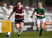 11 March 2018; Aislinn Meaney of Galway in action against Amy McCormack of Cork City during the Continental Tyres Women's National League match between Galway WFC and Cork City FC at Eamonn Deacy Park in Galway. Photo by Harry Murphy/Sportsfile
