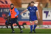9 March 2018; Seán O'Brien of Leinster and Leinster head physiotherapist Garreth Farrell during the Guinness PRO14 Round 17 match between Scarlets and Leinster at Parc Y Scarlets in Llanelli, Wales. Photo by Ramsey Cardy/Sportsfile