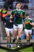 11 March 2018; David Clifford of Kerry runs out ahead of the Allianz Football League Division 1 Round 5 match between Dublin and Kerry at Croke Park in Dublin. Photo by Stephen McCarthy/Sportsfile