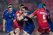9 March 2018; Jack Conan of Leinster is tackled by Tadhg Beirne of Scarlets during the Guinness PRO14 Round 17 match between Scarlets and Leinster at Parc Y Scarlets in Llanelli, Wales. Photo by Ramsey Cardy/Sportsfile