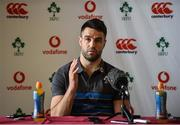 12 March 2018; Conor Murray speaking during an Ireland Rugby Press Conference at Carton House, in Maynooth, Co. Kildare. Photo by Sam Barnes/Sportsfile