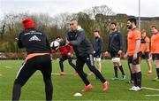 12 March 2018; Simon Zebo during Munster Rugby squad training at the University of Limerick in Limerick. Photo by Diarmuid Greene/Sportsfile
