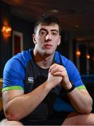12 March 2018; Matthew Dalton poses for a portrait following an Ireland Under 20 Rugby Press Conference at the Sandymount Hotel in Dublin. Photo by Sam Barnes/Sportsfile