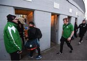 12 March 2018; Kevin Horgan of Shamrock Rovers arrives prior to the SSE Airtricity League Premier Division match between Cork City and Shamrock Rovers at Turner's Cross in Cork. Photo by Stephen McCarthy/Sportsfile