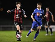 12 march 2018; Dylan Watts of Bohemians in action against Gavan Holohan of Waterford during the SSE Airtricity League Premier Division match between Waterford and Bohemians at Waterford Regional Sports Centre in Waterford. Photo by Harry Murphy/Sportsfile