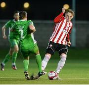 12 March 2018; Shaun Kelly of Limerick in action against Ronan Curtis of Derry City during the SSE Airtricity League Premier Division match between Derry City and Limerick at the Brandywell Stadium in Derry. Photo by Oliver McVeigh/Sportsfile