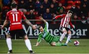 12 March 2018; Ronan Hale of Derry City in action against Shane Tracy of Limerick during the SSE Airtricity League Premier Division match between Derry City and Limerick at the Brandywell Stadium in Derry. Photo by Oliver McVeigh/Sportsfile