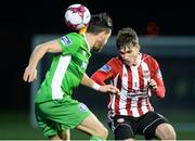 12 March 2018; Jack Doyle of Derry City in action against Billy Dennehy of Limerick during the SSE Airtricity League Premier Division match between Derry City and Limerick at the Brandywell Stadium in Derry. Photo by Oliver McVeigh/Sportsfile