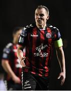 12 March 2018; Derek Pender of Bohemians reacts during the SSE Airtricity League Premier Division match between Waterford and Bohemians at Waterford Regional Sports Centre in Waterford. Photo by Harry Murphy/Sportsfile