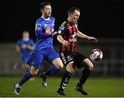 12 March 2018; Derek Pender of Bohemians in action against Derek Daly of Waterford  during the SSE Airtricity League Premier Division match between Waterford and Bohemians at Waterford Regional Sports Centre in Waterford. Photo by Harry Murphy/Sportsfile