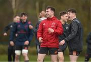 12 March 2018; JJ Hanrahan and Alan Tynan during Munster Rugby squad training at the University of Limerick in Limerick. Photo by Diarmuid Greene/Sportsfile