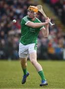 11 March 2018: Seamus Flanagan of Limerick during the Allianz Hurling League Division 1B Round 5 match between Galway and Limerick at Pearse Stadium in Galway. Photo by Diarmuid Greene/Sportsfile