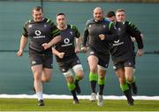 13 March 2018; Players, from left, Jack McGrath, Jack Conan, Rory Best, Jacob Stockdale and Dan Leavy during Ireland rugby squad training at Carton House in Maynooth, Co Kildare. Photo by Brendan Moran/Sportsfile
