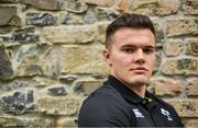 13 March 2018; Jacob Stockdale poses for a portrait after an Ireland rugby press conference at Carton House in Maynooth, Co Kildare. Photo by Brendan Moran/Sportsfile