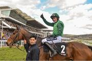 13 March 2018; Jockey Ruby Walsh celebrates after winning The Racing Post Arkle Challenge Trophy Steeple Chase on Footpad, on Day One of the Cheltenham Racing Festival at Prestbury Park in Cheltenham, England. Photo by Seb Daly/Sportsfile