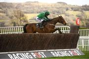 13 March 2018; Footpad, with Ruby Walsh up, jumps the last fence on their way to winning The Racing Post Arkle Challenge Trophy Steeple Chase on Day One of the Cheltenham Racing Festival at Prestbury Park in Cheltenham, England. Photo by Ramsey Cardy/Sportsfile
