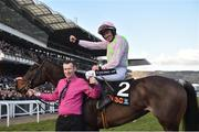 13 March 2018; Jockey Ruby Walsh with stable hand Brendan Kenny after winning the OLBG Mares' Hurdle Race on Benie Des Dieux on Day One of the Cheltenham Racing Festival at Prestbury Park in Cheltenham, England. Photo by Seb Daly/Sportsfile