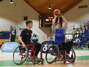 13 March 2018: The finals of the inaugural  'All-Ireland TY Wheelchair Basketball Championships' launched by Irish Wheelchair Association (IWA) took place on Tuesday, 13th March 2018 in the National Basketball Arena, Tallaght. Ardscoil na Mara, Tramore Co. Waterford and Gaelcholáiste Mhuire AG, Cork reached the grand final with Gaelcholáiste Mhuire AG rolling to victory on the day, in a fast paced match which ended in 11 - 4. A general view of action during the final between Grennan College Thomastown and Santa Sabina & St Fintans at the National Basketball Arena in Tallaght, Dublin. Photo by Eóin Noonan/Sportsfile