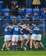 13 March 2018; St Mary's College players celebrate after the Bank of Ireland Leinster Schools Junior Cup Semi-Final match between Belvedere College and St Mary's College at Donnybrook Stadium in Dublin. Photo by Daire Brennan/Sportsfile